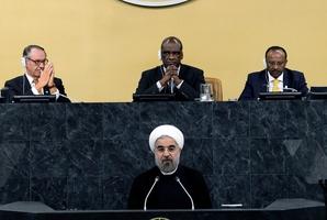 A forum familiar to his predecessor Mahmoud Ahmadinejad. Photo / AP