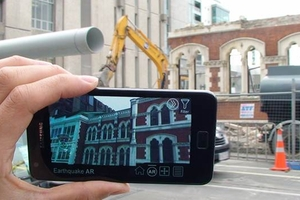 The CityViewAR app also works on smartphones, as well as Google Glass.
