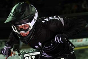 Todd Barry, with a junior world ranking of 19, says he looks up to BMX Olympian Sarah Walker's achievements.