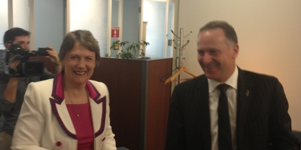 John Key caught up with former Prime Minister Helen Clark in New York this morning.