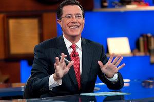 Stephen Colbert in The Colbert Report. Photo / AP
