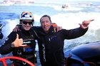 Oracle's Larry Ellison, enjoying with skipper Jimmy Spithill (left) their victory yesterday, describes the AC72s as