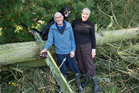 Barry Inwood, 77, his wife Jan, 70, and dog Pat were left without power for 13 days after strong winds damaged power lines  around Canterbury. Photo / Martin Hunter