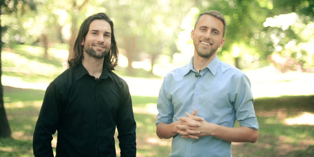 Kiwis Doug Barber and Jimmy Hayes seen in their KickStarter promo video.