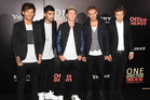 British boy band One Direction, from left, Louis Tomlinson, Zayn Malik, Niall Horan, Liam Payne and Harry Styles. Photo / AP