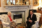 Prime Minister John Key meets with the Queen.Photo / Claire Trevett