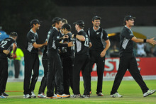 New Zealand players celebrate. Photo / Getty Images 