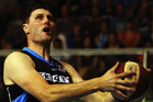 Alex Pledger of the Breakers lays the ball up during the winning NBL Round 16 match. Photo / Getty Images