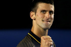 Novak Djokovic of Serbia celebrates in his Semifinal match against David Ferrer of Spain. Photo / Getty Images