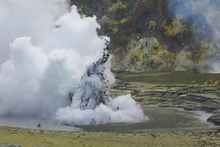Hydrothermal activity has increased on White Island. Photo / Marcus Dye/Supplied