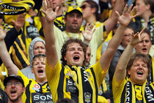 Phoenix fans cheer on their side during an A-League clash earlier in the season. Photo / Getty Images