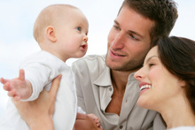 Having your first baby has a positive affect on