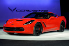 FILE - In this Monday, Jan. 14, 2013, file photo, the 2014 Chevrolet Corvette Stingray is revealed at media previews for the North American International Auto Show in Detroit. Maybe it was the brand n