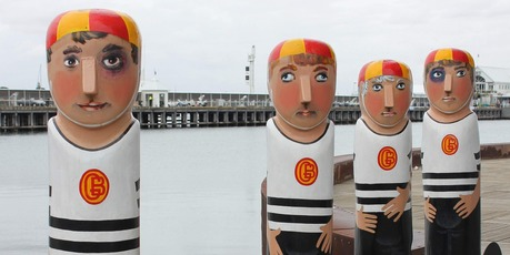 Geelong's Baywalk Bollards. Photo / Jill Worrall 