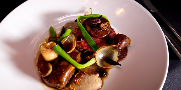 Clooney's wakanui beef fillet. Photo / Dean Purcell