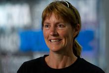 Clea Gardiner said battling blazing eucalyptus trees in the Tasmanian bush was