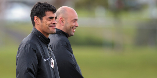 Stephen Kearney and assistant Tony Iro. Photo / Getty Images
