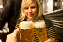 They certainly take their beer seriously in bars in Prague, in the Czec