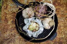 Roasted garlic bulbs. Photo / Michael Craig