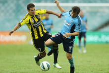 Alessandro Del Piero (right) scored four for Sydney last night. Photo / Getty Images