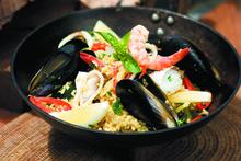 Seafood paella. Photo / Supplied