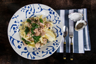 Tuna and spinach pasta is given a fresh twist with a squeeze of citrus. Photo / Kellie Blizard