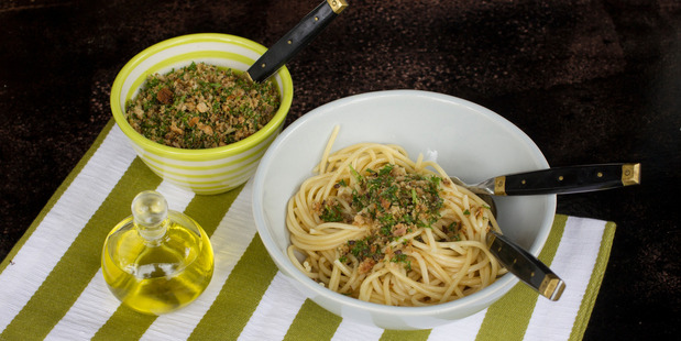 Anchovy, lemon and breadcrumbs make a simple topping. Photo / Kellie Blizard