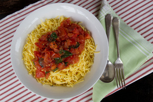 Fresh tomatoes are great with pasta. Photo / Kellie Blizard