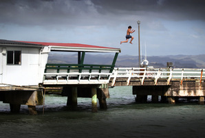 The attack happened at Kawhia Jetty. Photo / Doug Sherring