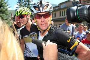 Who will play Lance Armstrong in the film about his sham of a cycling career? Photo / AP