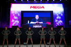 Kim Dotcom at yesterday's official launch of his new mega file storage service. Photo / Richard Robinson.