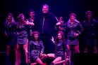 Internet tycoon Kim Dotcom at the launch of his new file-sharing service Mega.  Photo / Richard Robinson