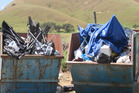 Skips used by campers staying at the DoC campground at Port Jackson, Coromandel. Photo / Supplied