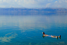 Resorts overlook the Dead Sea, where you can float on your back until the high salt levels make you itch. Photo / Rebecca Savage