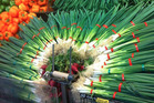 When life gives you spring onions, make art. Spotted in Lincoln Rd Pak'nSave in Henderson by Rut. Photo / Supplied