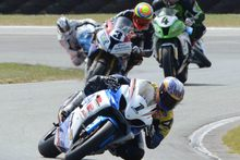 Robbie Bugden found the wind at Teretonga tough going at the weekend but still won.Picture/fotocd.co.nz