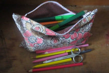 Stitch up some personalised, colourful pencil cases. Photo / Justin Newcombe
