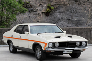 This sought-after 1974 Ford Falcon XB GS 'K Code' 351 V8 sedan  is expected to bring $24,000-$28,000 at Shannons Sydney Auction.
