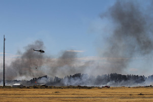 Fire at the New Zealand Army's West Melton Rifle Range. Photo / Geoff Sloan