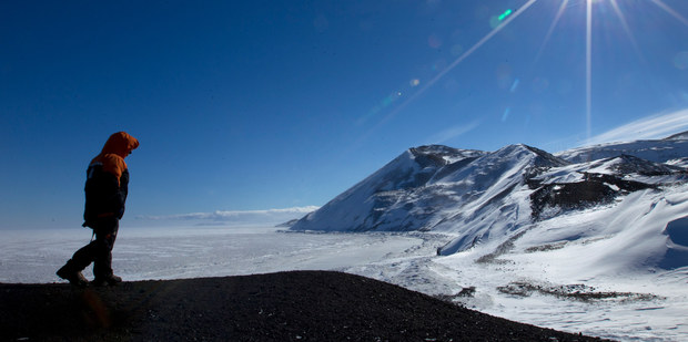 A view of McMurdo Sound from Hut Pt. Photo / Alan Gibson