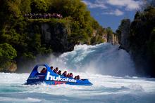 Three Hukafalls Jet staff helped save a Wairakei man after he tumbled into the Waikato River. Photo / Supplied