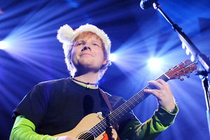 Singer Ed Sheeran will be teaming up with Sir Elton John for a duet at the Grammy Awards next month. Photo / AP