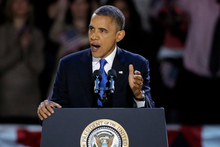 President Obama sought to be a leader who would transcend partisan divisions. Photo / AP