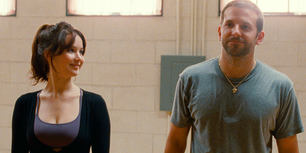 Jennifer Lawrence and Bradley Cooper play two distrubed characters in Silver Linings Playbook. Photo / Supplied