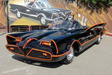 The the original Batmobile in Los Angeles.  Photo / Supplied