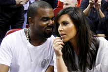 Kanye West, left, and mother-to-be Kim Kardashian. Photo / Supplied