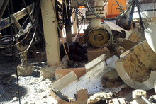 The damaged natural gas plant where 58 hostages were killed after al-Qaeda-linked terrorists attacked.  Photo / AP