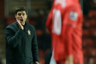 Mauricio Pochettino calls to Gaston during Southampton's goalless draw with Everton. Pochettino says the players and fans have been supportive in the short time he has been with the club. Photo / AP