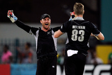 Brendon McCullum (left) was a vocal and positive presence behind the stumps in New Zealand's ODI success in South Africa. Photo / AP