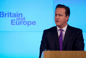 British Prime Minister David Cameron doesn't really want to leave the European Union, but he does want to win the 2015 election. Photo / AP